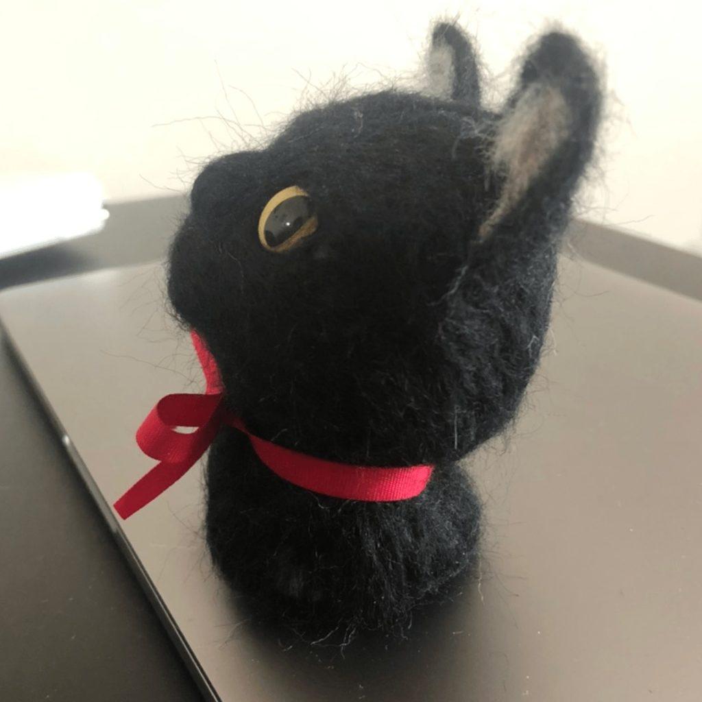 黒猫 羊毛フェルト