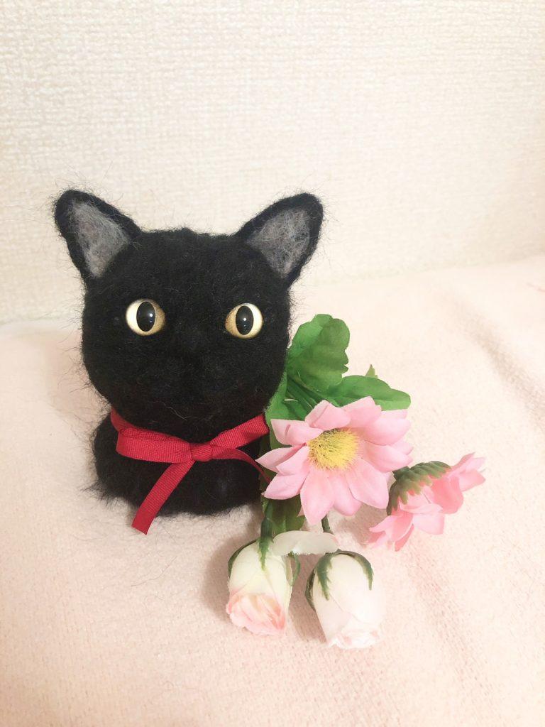 商品一覧 羊毛フェルト 黒猫