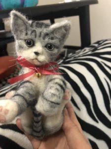 ミニ人形猫 羊毛フェルト