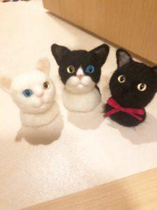 商品一覧 羊毛フェルト 猫たち