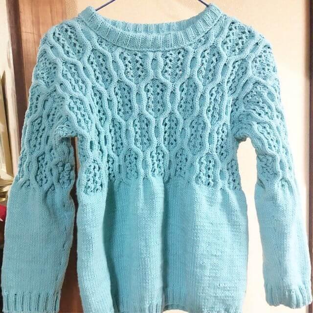 手編みセーター 春物