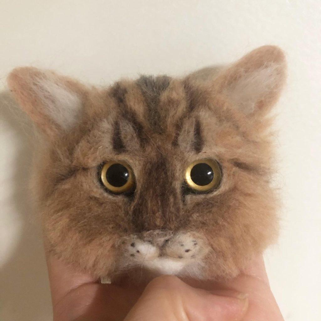羊毛フェルト 猫 マグネット リアル動物
