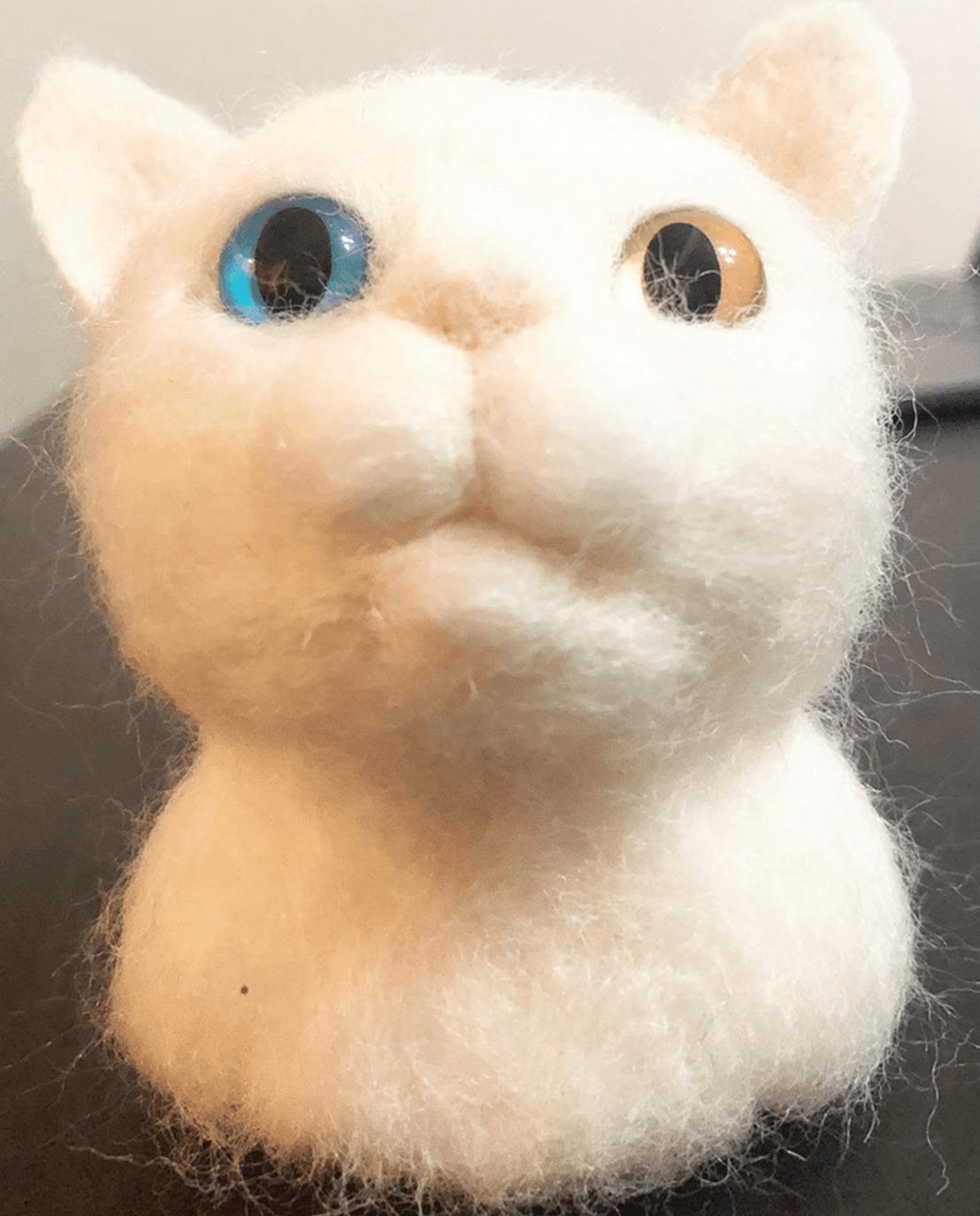 商品一覧 羊毛フェルト 白猫
