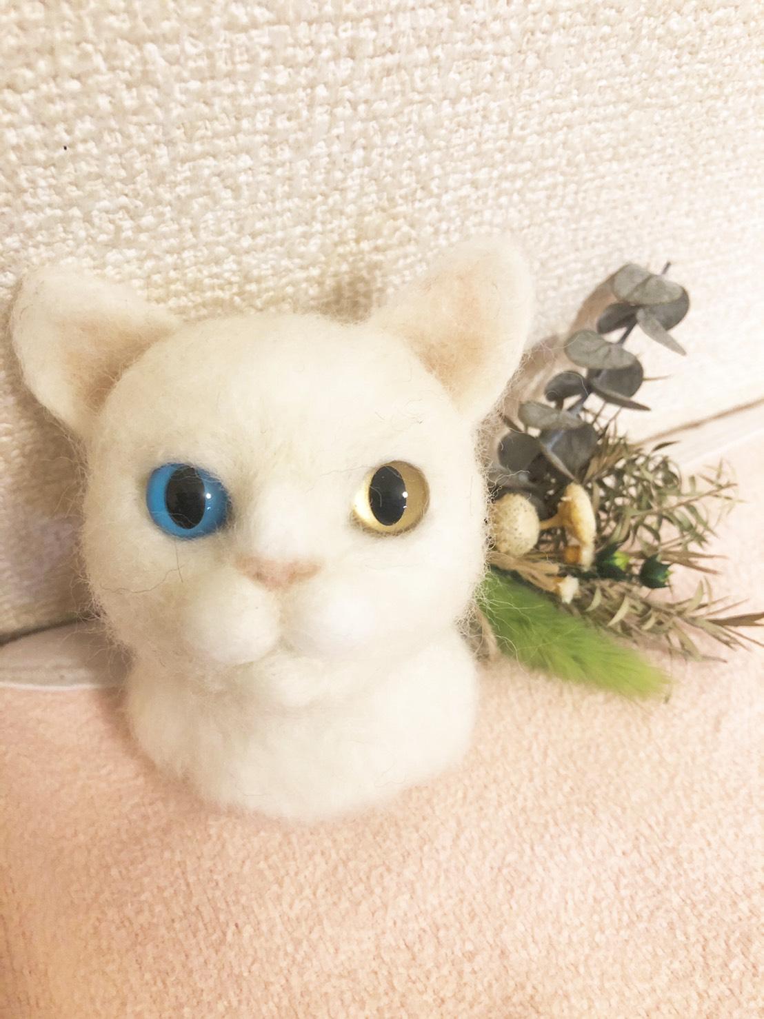 商品一覧 羊毛フェルト 白猫 白